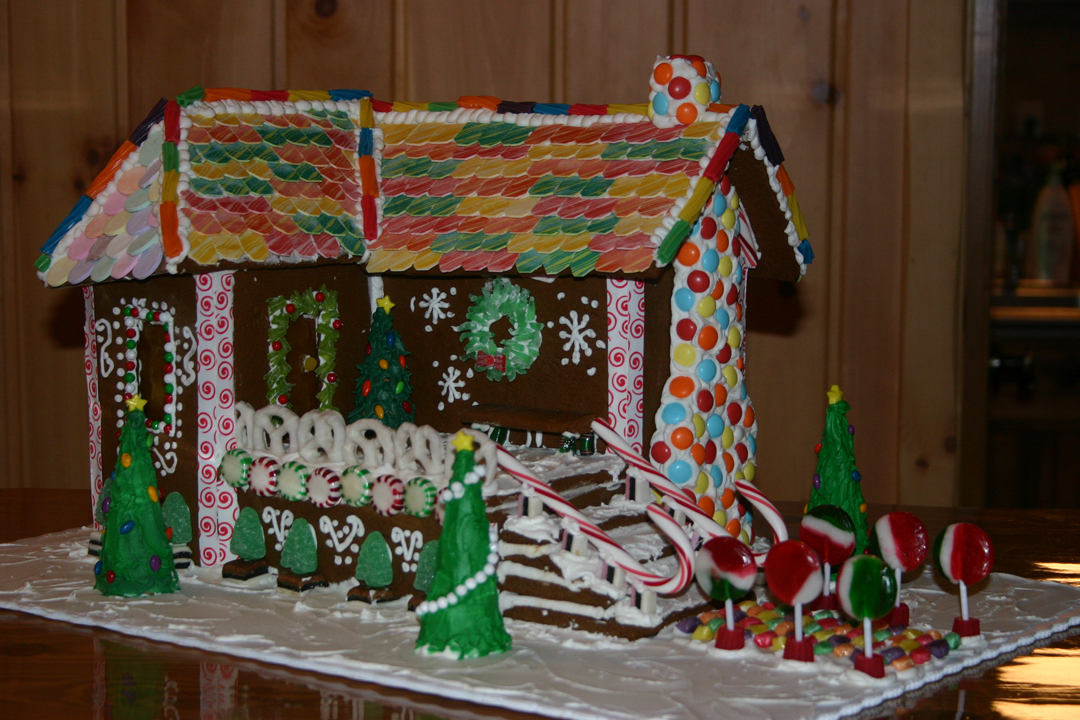Building a gingerbread house was a life long dream for Sue and her sister Carrie!