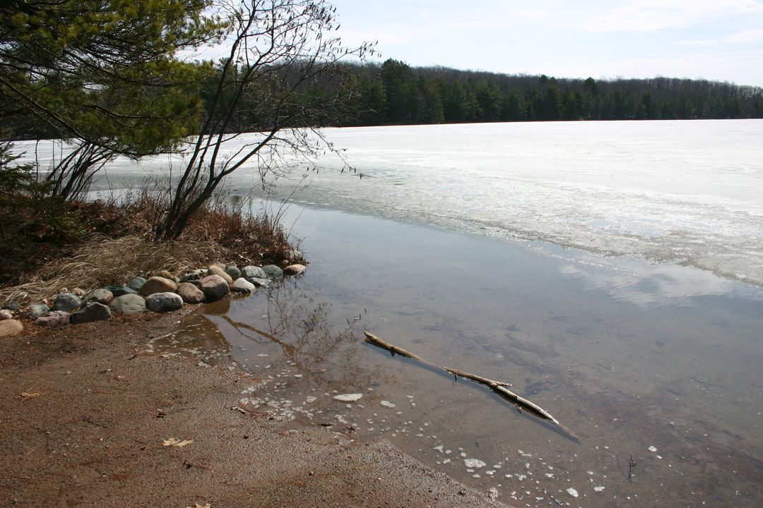 There's a little less beach this spring with the high water.