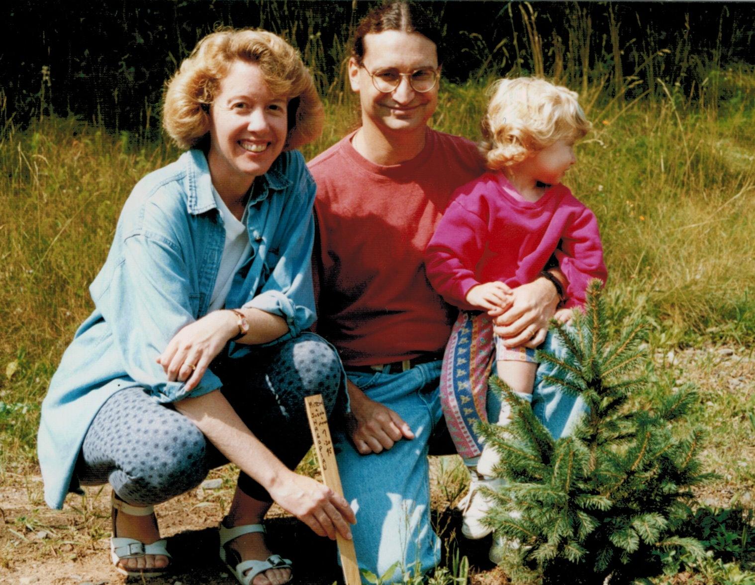 Mitch, Suzanne and Annie's tree