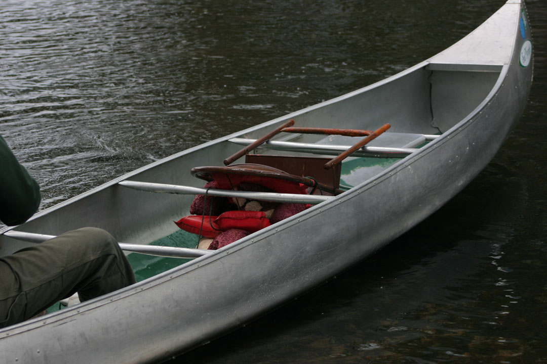 Charlie's ride in the canoe