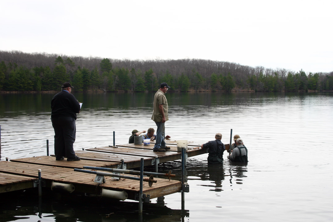 Andy and Randy making sure the main dock gets done correctly.
