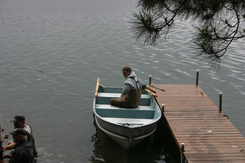 John supervising from the boat :)