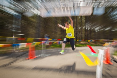 I love this action shot at the finish line.