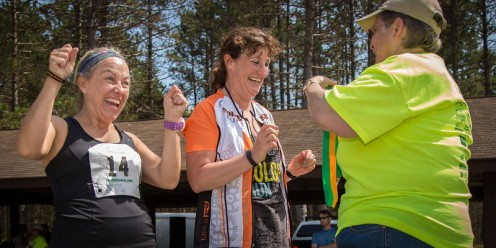 Deb is soooo excited she and Jill took second place in the team division.