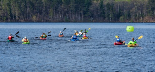The paddle portion of the race took place on Boulder Lake and headed to Camp Manitowish.